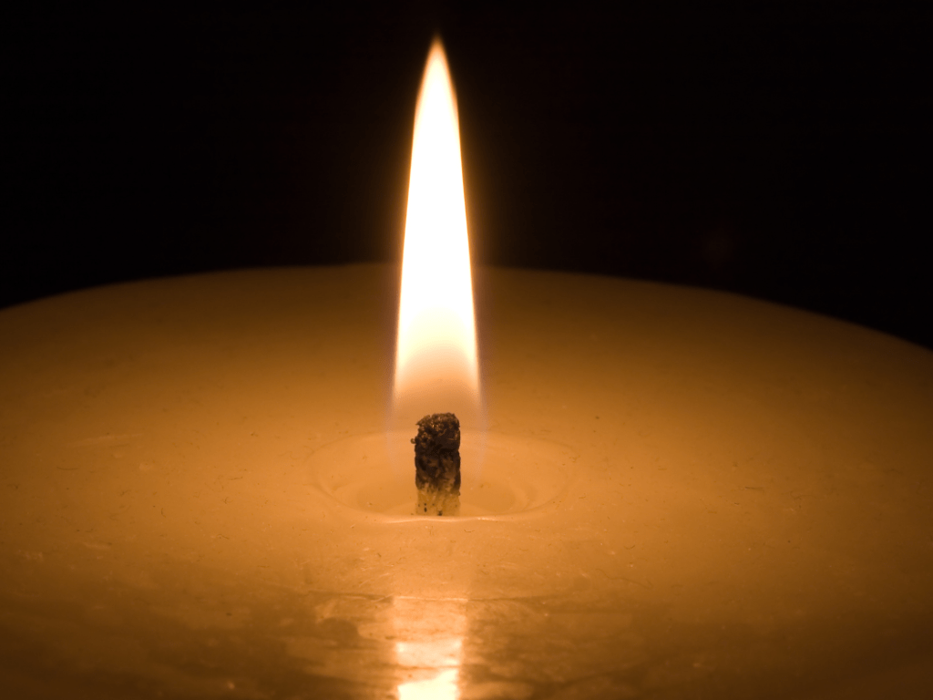 The starting point of candle-making