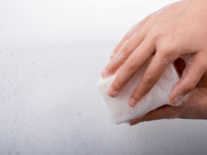 Soap for frequent hand-washing